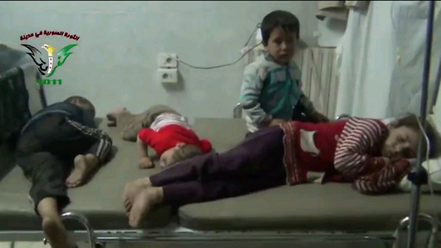 Syrian children receiving treatment