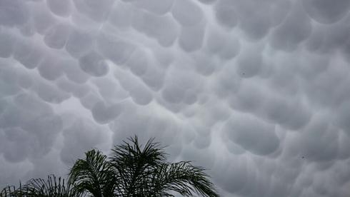 `Breast clouds` over Shlomi (Photo: Arcadi Hayat) ((Photo: Arcadi Hayat))