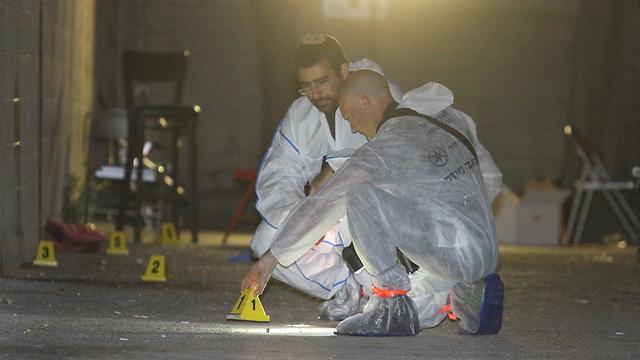 The murder scene processed by the police (Photo: Ido Erez) ((Photo: Ido Erez))