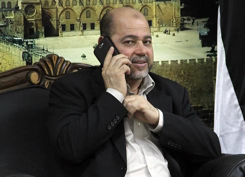שולח מסר לנתניהו. מוסא אבו מרזוק (צילום: AFP PHOTO /HO / GAZA STRIP MINISTRY OF THE INTERIOR / WAEL ABU OMAR) (צילום: AFP PHOTO /HO / GAZA STRIP MINISTRY OF THE INTERIOR / WAEL ABU OMAR)