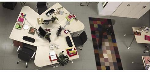 מסר של פתיחות ושקיפות לעובדים מועבר באמצעות חללי עבודה פתוחים (צילום באדיבות וקסמן ריהוט משרדי) (צילום באדיבות וקסמן ריהוט משרדי)