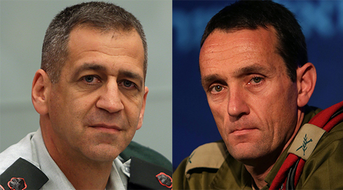 Kochavi (left) and his replacement Halevi (right) (Photo: Alex Kolomoisky)