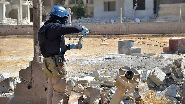 OPCW inspectors in Syria in 2013 (Photo: AP)