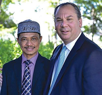 With Imam Shamsi. 'Muslims in Austria have never heard an imam talking against the Austrian silence during the Holocaust' (Photo: Foundation for Ethnic Understanding)