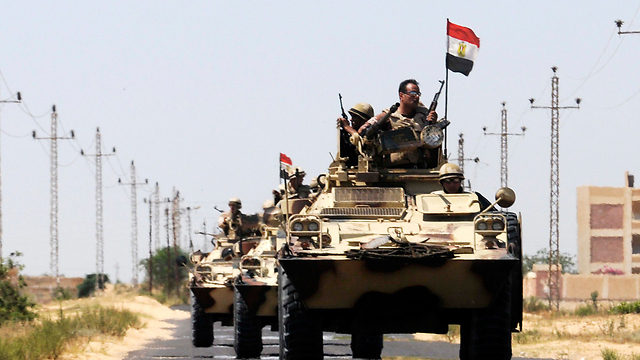 Egyptian troops in al-Arish (Photo: Reuters)