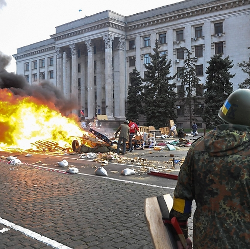 Police reported 38 dead in fires during clashes in Odessa on Friday. (Photo: EPA) (Photo: EPA)