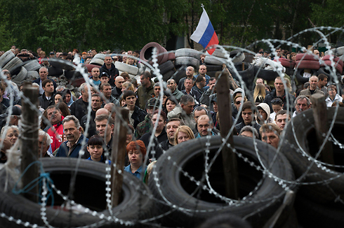 Crowds in Odessa on Friday (Photo: AP)