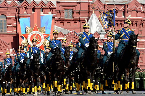 Russian cavalry march for Victory Day (Photo: AFP)