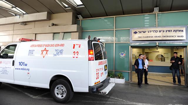 The ER entrance at Tel Aviv's Ichilov Medical Center (Photo: Benny Doutsh)