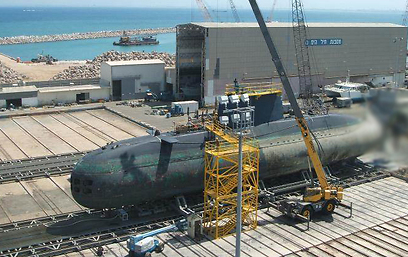 Leviathan submarine - re-fitted for NIS 150 million (Photo: IDF Spokesperson's Unit) (Photo: IDF Spokesman)