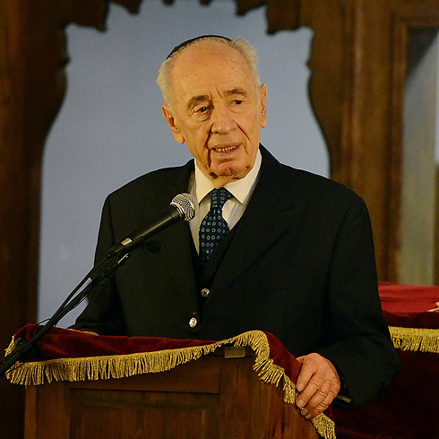 President Peres during visit to Norway (Photo: Haim Tzach, GPO)