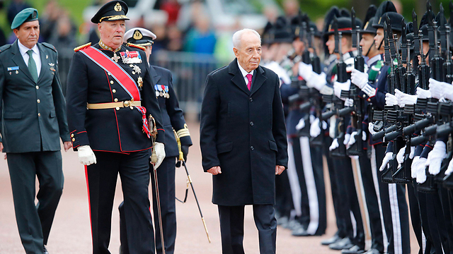 President Peres during state visit to Norway (Photo: Reuters)