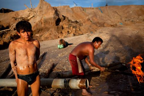 הממשלה פתחה במבצע נגד הכורים הבלתי חוקיים (צילום: AP) (צילום: AP)
