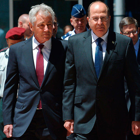 Ya'alon and Hagel meeting in May (Photo: Reuters) (Photo: Reuters)