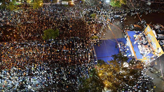 עצרת הניצחון (צילום: AFP) (צילום: AFP)