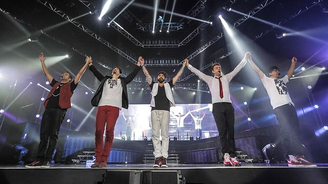 The Backstreet Boys in concert