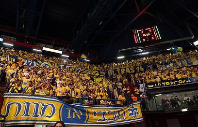 Maccabi Tel Aviv fans in the stands at the Euroleague Final (Photo: Oz Mualem) (Photo: Oz Mualem)