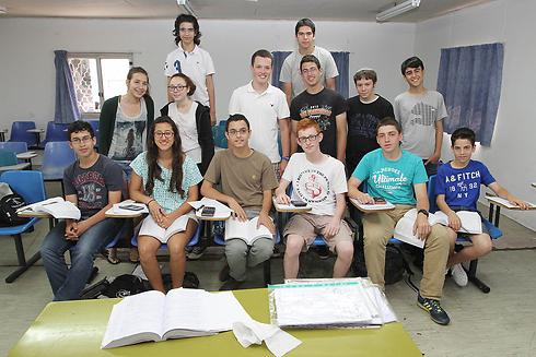 משתתפי התכנית לנוער מוכשר במתמטיקה (צילום: עידו ארז) (צילום: עידו ארז)