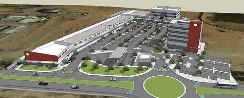 הדמיית המרכז המסחרי המתוכנן (אביעוז עופר באדיבות מנור פרויקטים)