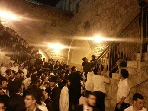 King David's Tomb Saturday night (Photo: Aryeh King)