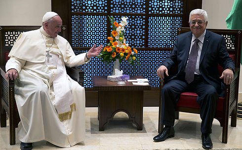 Pope Francis and President Abbas (Photo: AFP)