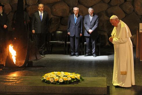 Pope Francis at Yad Vashem (Photo; Ido Erez)