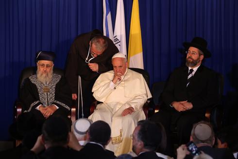 עם הרבנים הראשיים (צילום: גיל יוחנן ) (צילום: גיל יוחנן )