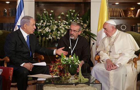 Netanyahu and Francis (Photo: Alex Kolomoisky)