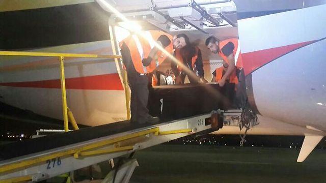 Coffins arrive at Ben Gurion Airport (Photo: Israel Airports Authority) (Photo: Israel Airports Authority)