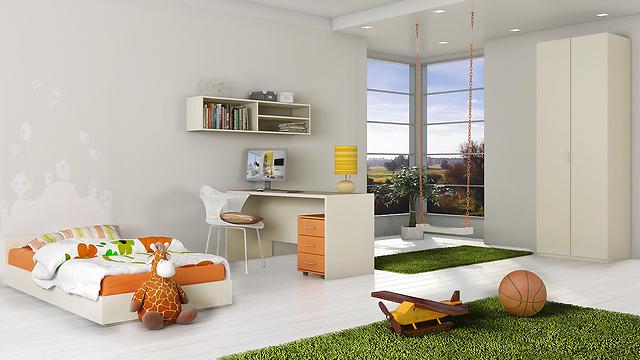 """חדרי ילדים בלבן """"צבעוני"""" של רהיטי דורון (צילום: רהיטי דורון) (צילום: רהיטי דורון)"""