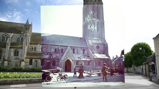 Then-and-now Normandy, France (Photo: Getty Images)