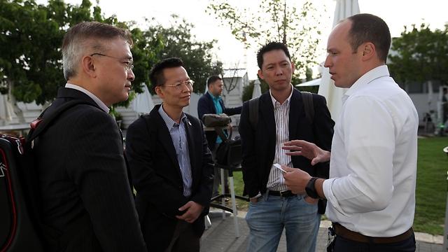 Hong Kong delegation in Jerusalem on May 19, meeting with Israeli startup innovators (Photo: Inbal Rose) (Photo: Inbal Rose)