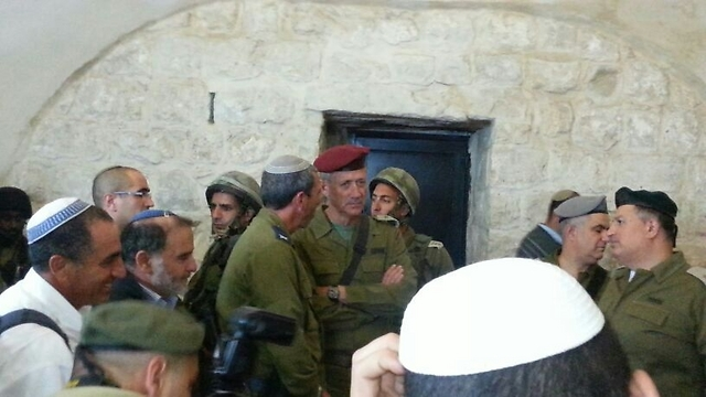 Gantz at Joseph's Tomb after being appointed chief of staff (Photo: Samaria Development Council)
