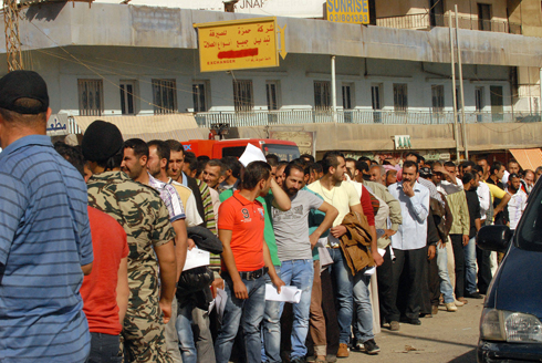 Syrians line up to cast votes at polling stations (Photo: EPA) (Photo: EPA)