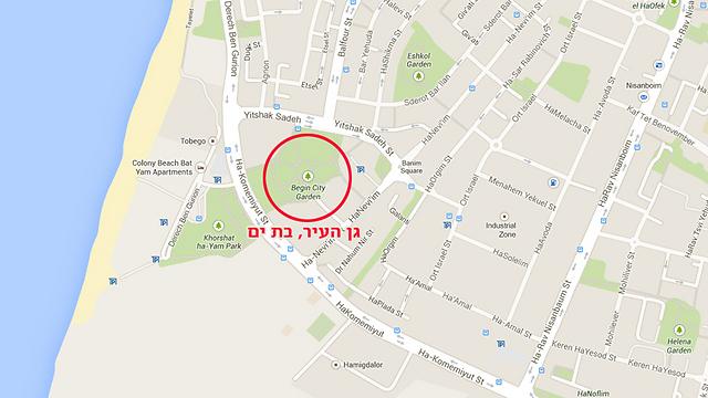 המיקום שבו נמצא המטען (מפה: Google Maps) (מפה: Google Maps)