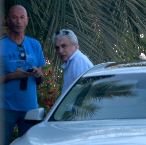 Avraham Nanikashvili after being questioned on Friday (Photo: Avi Mualem)
