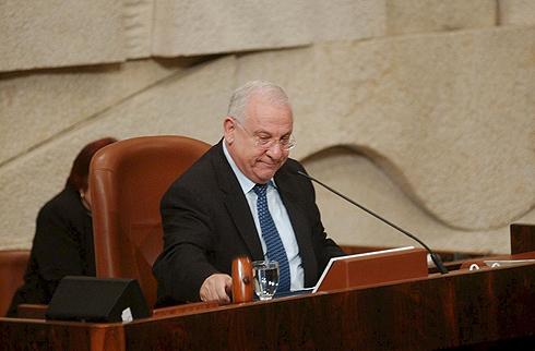 """ריבלין כיו""""ר הכנסת, 2003 (צילום: אלכס קולומויסקי) (צילום: אלכס קולומויסקי)"""