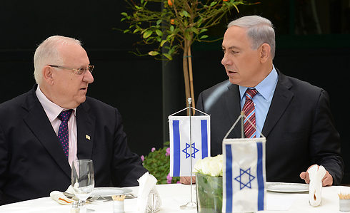 Rivlin and Netanyahu (Photo: Koby Gideon, GPO)