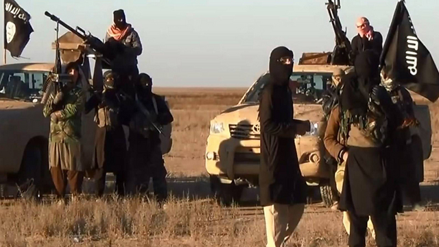 צילום של כוח 'המדינה האיסלאמית' באזור תיכרית (צילום: AFP) (צילום: AFP)