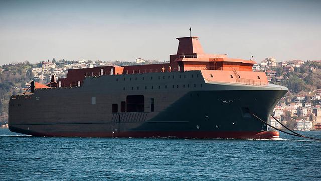 אוניית הריגול שהגיעה לנורבגיה מרומניה (צילום: AP) (צילום: AP)