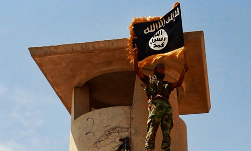 The ISIS flag flying above norther Iraq. (Photo: AFP) (Photo: AFP)