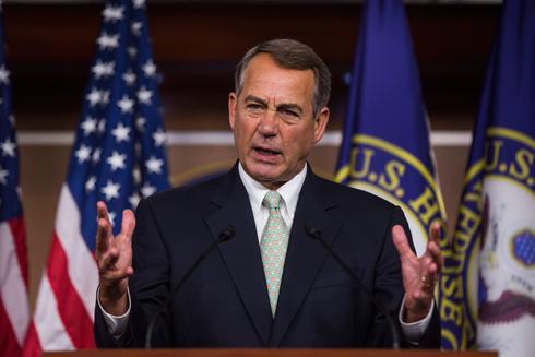 """תוקף את הנשיא. יו""""ר בית הנבחרים ג'ון ביינר (צילום: EPA) (צילום: EPA)"""