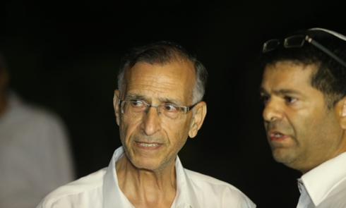 Gil-Ad Shaer's grandfather Shmuel in Talmon (Photo: Motti Kimchi)