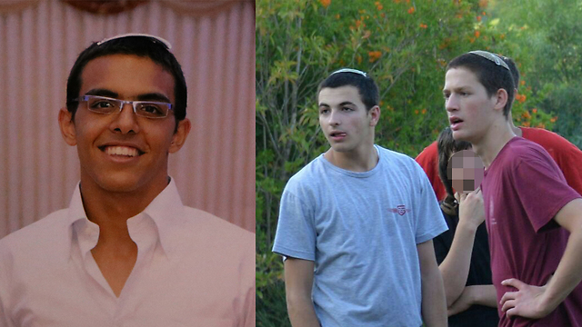 The three teens: Eyal Yifrach (left), Gil-Ad Shaer and Naftali Frenkel.