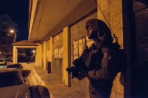 IDF activity in the West Bank overnight (Photo: IDF Spokesman's Office)