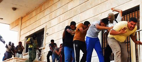 """""""הוצאה להורג היא דאעש"""". תמונות הטבח בתיכרית (צילום: AP) (צילום: AP)"""