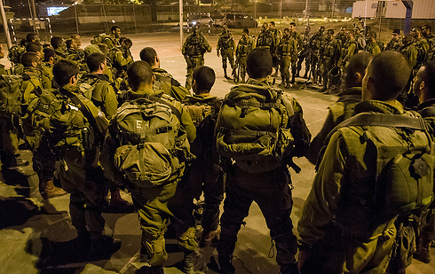 IDF forces in Nablus, Monday night (Photo: IDF Spokesman)