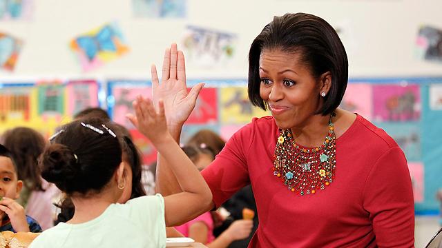 עצמאית בשטח - מישל אובמה (צילום: AP)