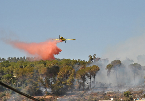 Aerial firefighter (Photo: Ofer Meir)