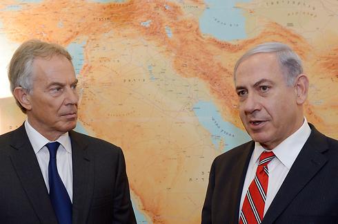 Tony Blair meeting with Prime Minister Benjamin Netanyahu (Photo: Haim Tzah, GPO)